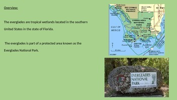 Everglades Florida - Power Point - Facts History Pictures Animals Eco Systems