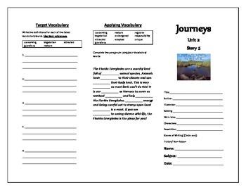 Journeys Grade 5 Trifold (Everglades Forever: Restoring America's Great Wetland)