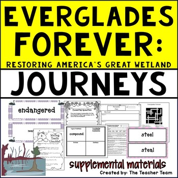 Everglades Forever Journeys 5th Grade Unit 2 Lesson 8 Activities and Printables