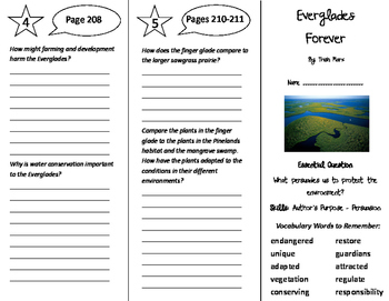 Everglades Forever Trifold - Journeys 5th Grade Unit 2 Week 3 (2011)
