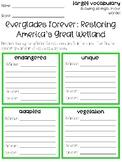 Everglades Forever Vocabulary Grids