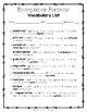 Everglades Forever - Vocabulary Packet