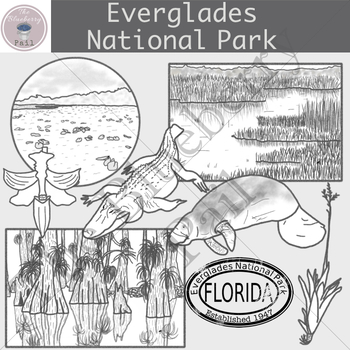 Everglades National Park Clip Art Set