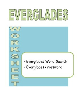 Everglades Worksheet