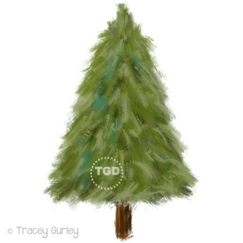 Evergreen Tree Clip Art Printable Tracey Gurley Designs