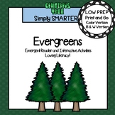 Evergreens Emergent Reader Book AND Interactive Activities