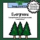 Evergreens Emergent Reader Book AND Interactive Activities