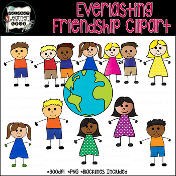 Everlasting Friendship 48 Boys & Girls Clip Art