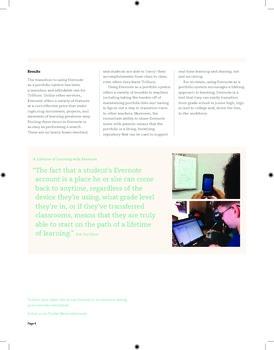 Evernote for Portfolios: A case study.