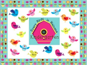 Every Birdy is Welcome in ________ (Bulletin Board Kit)