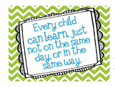 Every Child Can Learn Poster