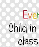 Every Child Printable