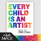 Every Child is an Artist   Classroom Visual