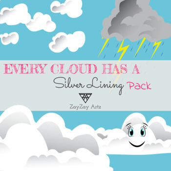 Every Cloud Has a Silver Lining Clip Art Pack