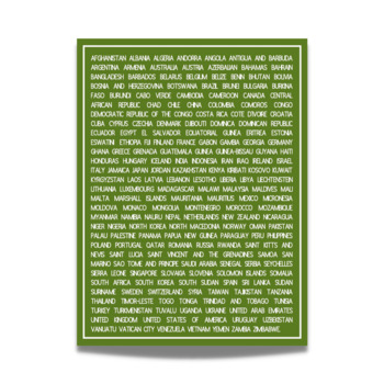 Every Country in the World Poster - For Middle and High School Wall Displays