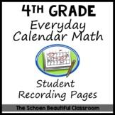 Every Day Calendar Math 4th Grade Blank Recording Calendars