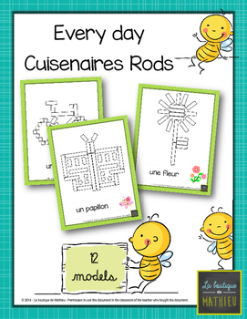 Every Day Cuisneraires Rods Game ! 12 models [Math Center]