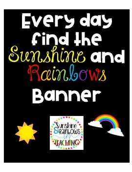 Every Day Find The Sunshine and Rainbows bulletin board letters
