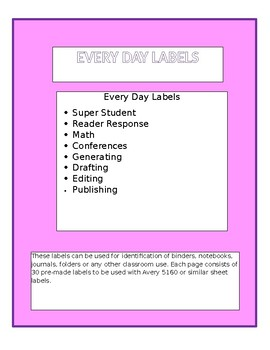 Every Day Labels
