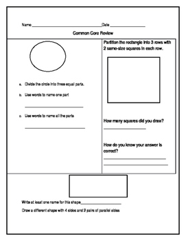 Every Day Math 4 End-of-Year Assessment Review