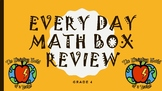 Every Day Math Box Review