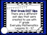 Every Day Math Exit Slips: First Grade