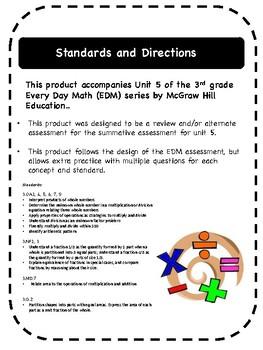 Every Day Math Grade 3 Unit 5 Practice/Alternative Assessment