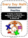 Every Day Math Grade 3 Unit 5 Practice/Alternative Assessment