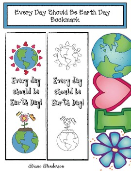 Free: Every Day Should Be Earth Day! Writing Prompt Bookmark