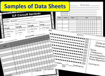 Every Form EVER for SLPs! **EDITABLE** ~*Black and White*~