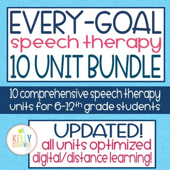 Every Goal Speech Therapy Unit 10 Unit Bundle