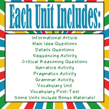 Every Goal Speech Therapy Unit--2 Unit BHSM Edition