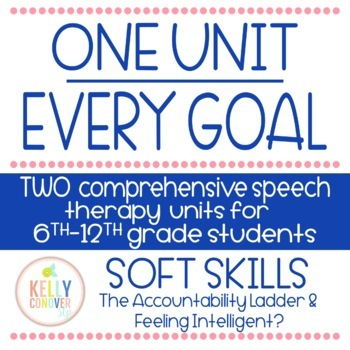 TWO Every Goal Speech Therapy Units - Soft Skills