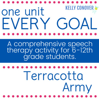 #Jun17SLPMustHave Every Goal Speech Therapy Unit--Terracotta Warriors