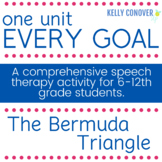 Every Goal Speech Therapy Unit - The Bermuda Triangle
