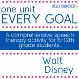 Middle and High School Speech Therapy Unit - Walt Disney