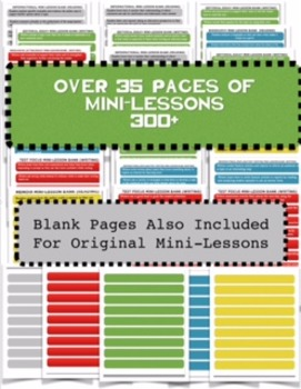 Guided Reading and Writer's Workshop Mini-Lessons  (Over 300 Mini-lessons)