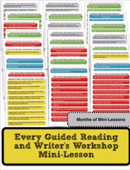 Guided Reading and Writer's Workshop Mini-Lessons  (Over 3