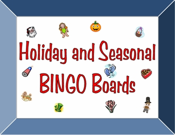 Every Holiday and Season BINGO Boards Set