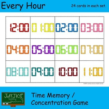 Every Hour Time Memory / Concentration Game