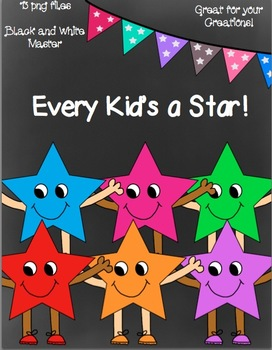 Every Kid's a Star Clip Art- 13 png images