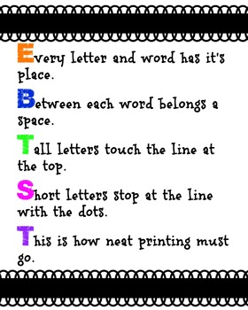 Every Letter and Word Has It's Place Black