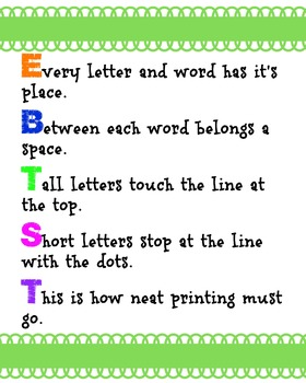 Every Letter and Word Has It's Place Green