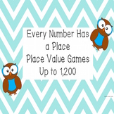 Place Value Games Up to 1,200