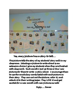 Every Picture Has a Story to Tell--Writing