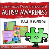 Every Puzzle Piece is Important!  Autism Awareness Bulletin Board Set