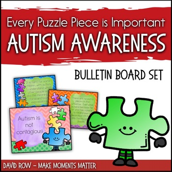 Every Puzzle Piece is Important!  Autism Awareness Bulleti