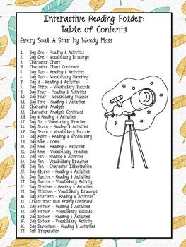 Every Soul A Star - Novel Unit