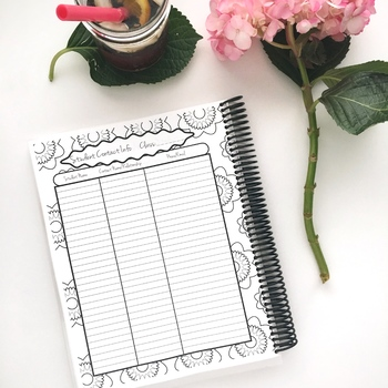 Every Teacher's Best Friend 13 Month Planner (Black and White Plaid Cover)