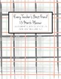 HALF OFF! 2017-18 Every Teacher's Best Friend 13 Mth Plann